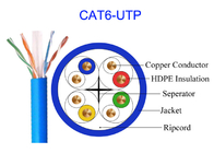CAT6 UTP Network Electric Copper Lan Cable  Rj45 100M Transmission 23AWG 305m